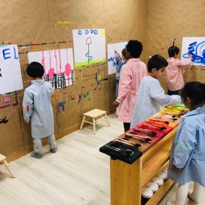 Pintura Cuarto Creciente Montessori Logroño (6)